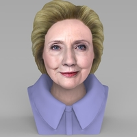 Small Hillary Clinton bust ready for full color 3D printing 3D Printing 231374