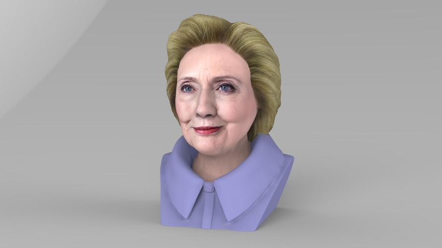 Hillary Clinton bust ready for full color 3D printing 3D Print 231375
