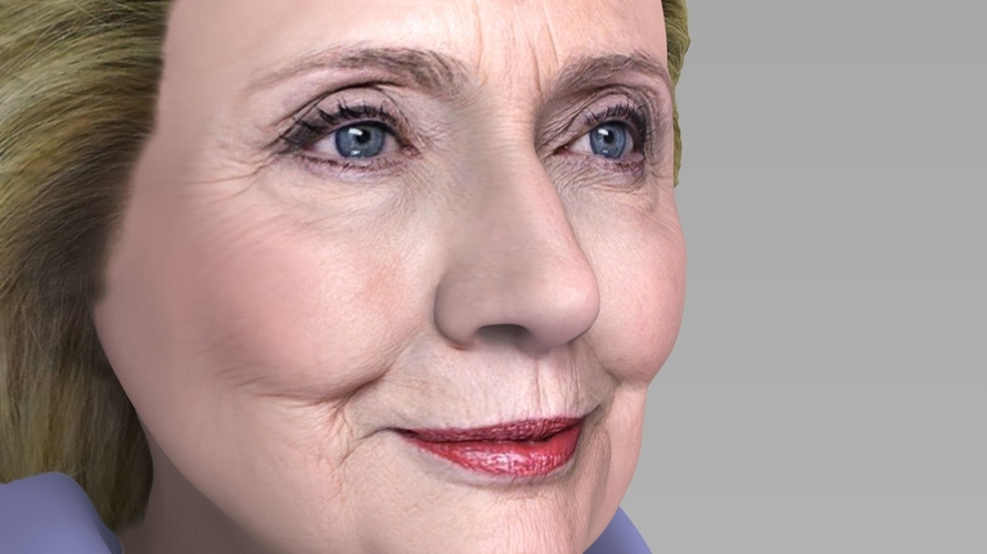 Hillary Clinton bust ready for full color 3D printing 3D Print 231376