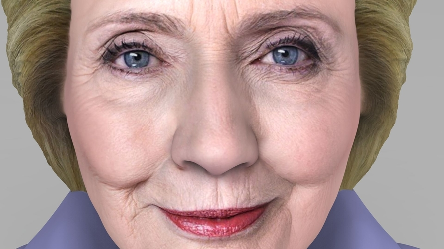Hillary Clinton bust ready for full color 3D printing 3D Print 231377