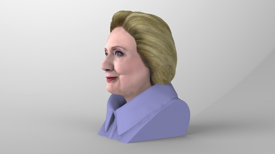 Hillary Clinton bust ready for full color 3D printing 3D Print 231378