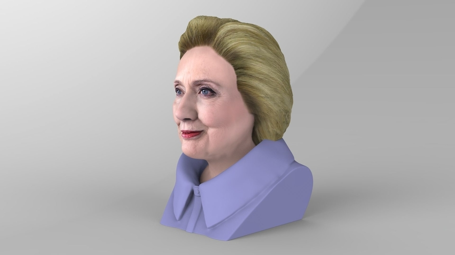 Hillary Clinton bust ready for full color 3D printing 3D Print 231379