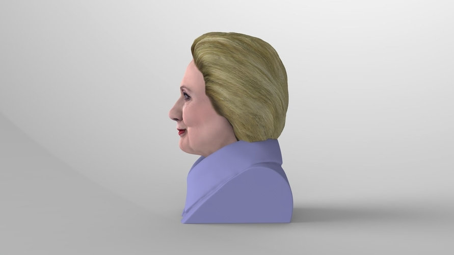 Hillary Clinton bust ready for full color 3D printing 3D Print 231380