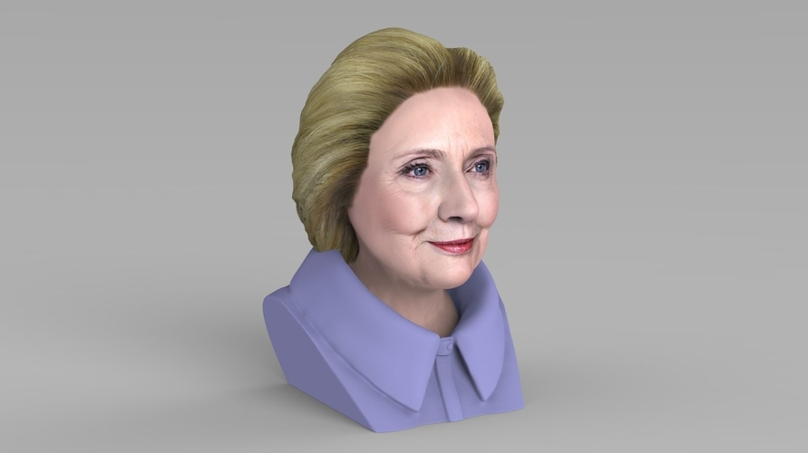 Hillary Clinton bust ready for full color 3D printing 3D Print 231381