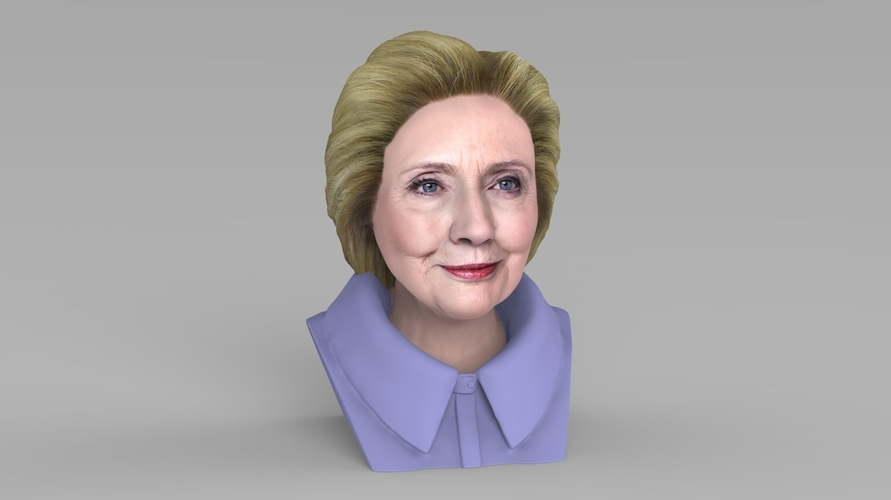Hillary Clinton bust ready for full color 3D printing 3D Print 231382