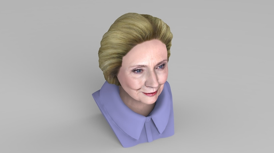 Hillary Clinton bust ready for full color 3D printing 3D Print 231383