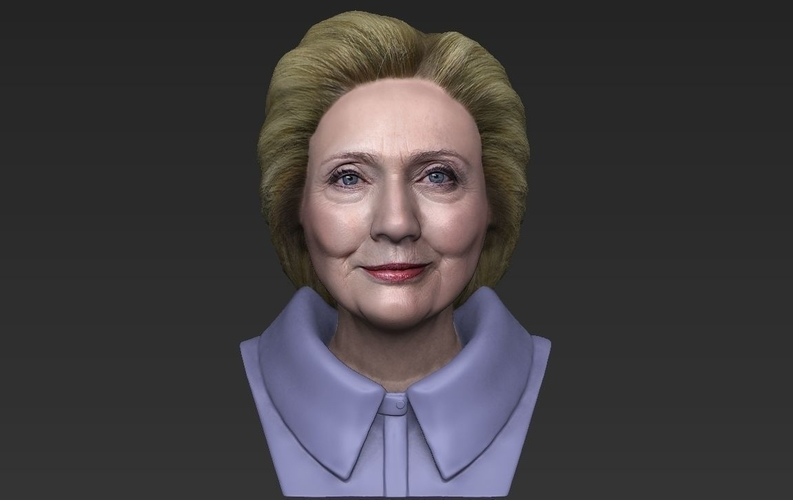 Hillary Clinton bust ready for full color 3D printing 3D Print 231384