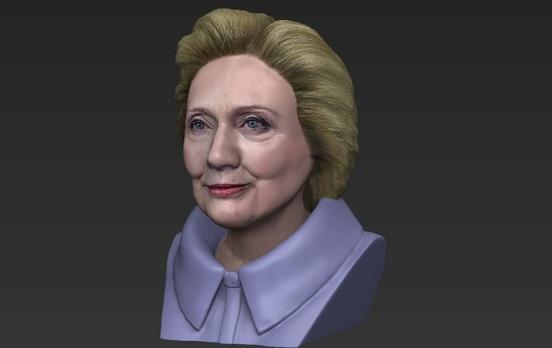 Hillary Clinton bust ready for full color 3D printing 3D Print 231385
