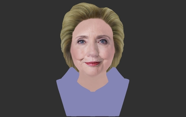 Hillary Clinton bust ready for full color 3D printing 3D Print 231386