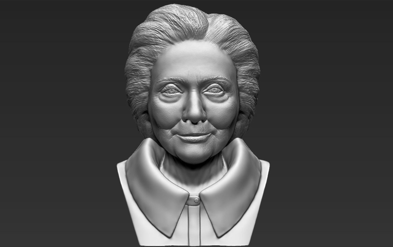 Hillary Clinton bust ready for full color 3D printing 3D Print 231387