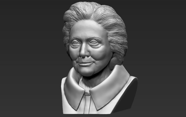 Hillary Clinton bust ready for full color 3D printing 3D Print 231388