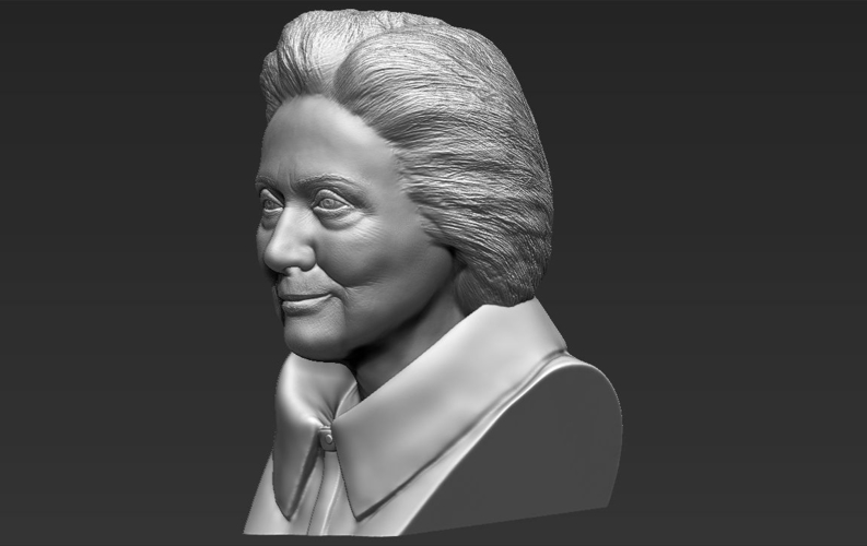Hillary Clinton bust ready for full color 3D printing 3D Print 231389