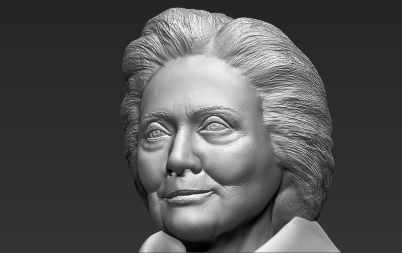 Hillary Clinton bust ready for full color 3D printing 3D Print 231392