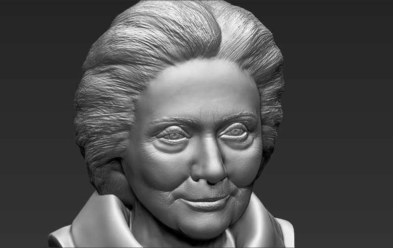 Hillary Clinton bust ready for full color 3D printing 3D Print 231393