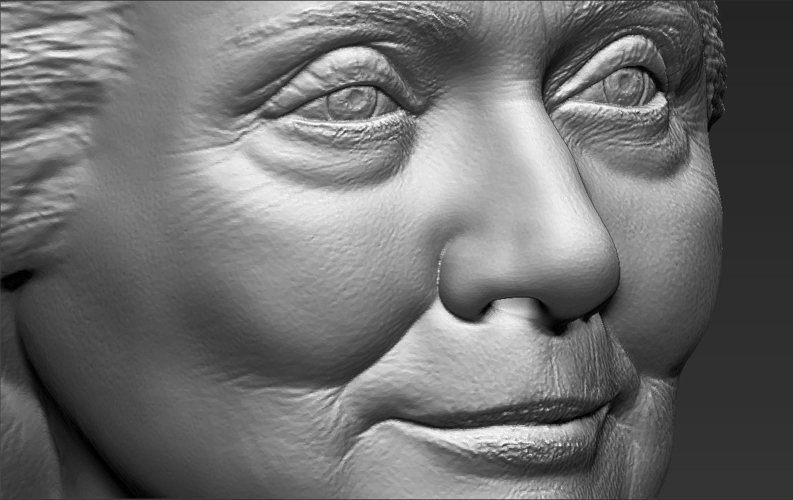 Hillary Clinton bust ready for full color 3D printing 3D Print 231394
