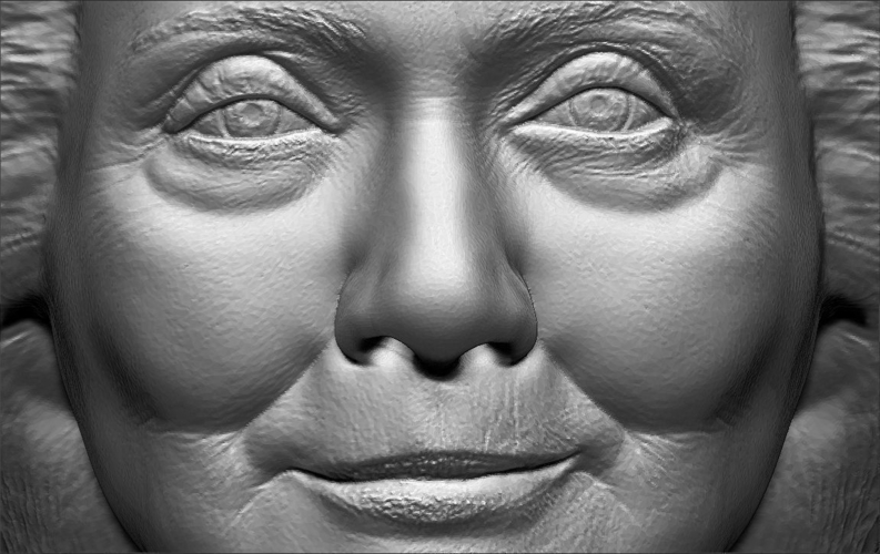 Hillary Clinton bust ready for full color 3D printing 3D Print 231395