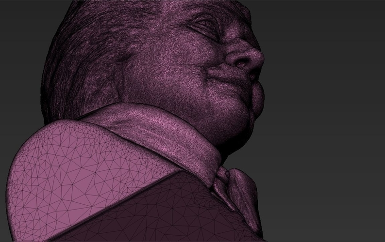Hillary Clinton bust ready for full color 3D printing 3D Print 231396