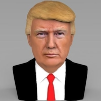 Small President Donald Trump bust ready for full color 3D printing 3D Printing 231413