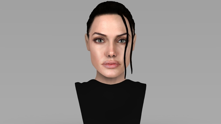 Lara Croft Angelina Jolie bust ready for full color 3D printing 3D Print 231488