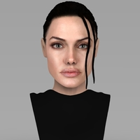 Small Lara Croft Angelina Jolie bust ready for full color 3D printing 3D Printing 231488