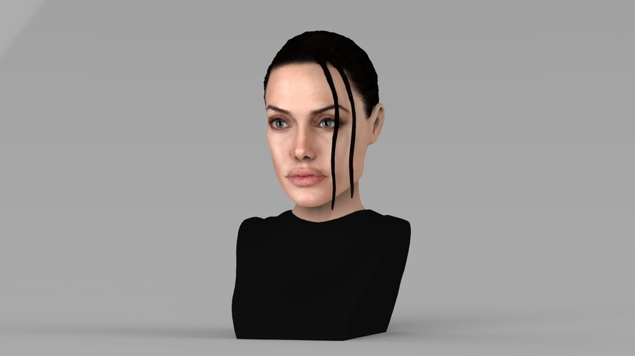Lara Croft Angelina Jolie bust ready for full color 3D printing 3D Print 231489