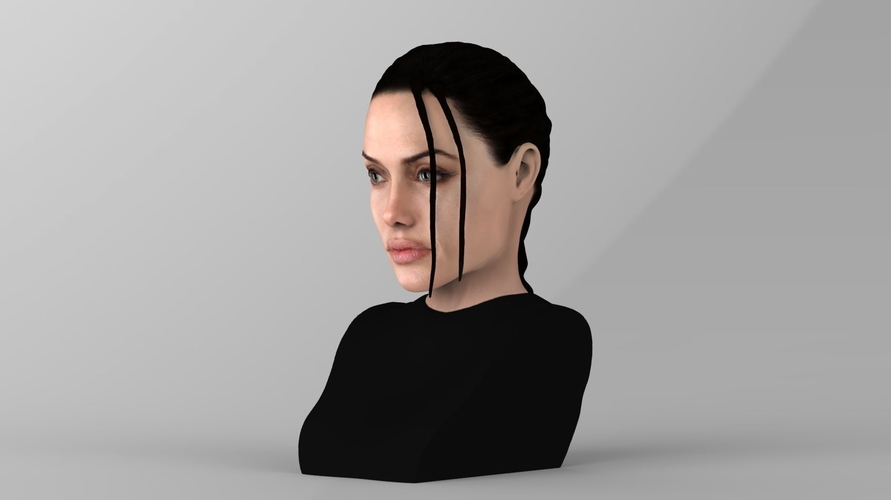 Lara Croft Angelina Jolie bust ready for full color 3D printing 3D Print 231490