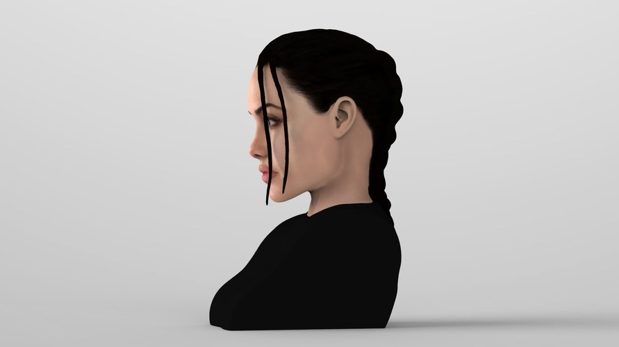 Lara Croft Angelina Jolie bust ready for full color 3D printing 3D Print 231493