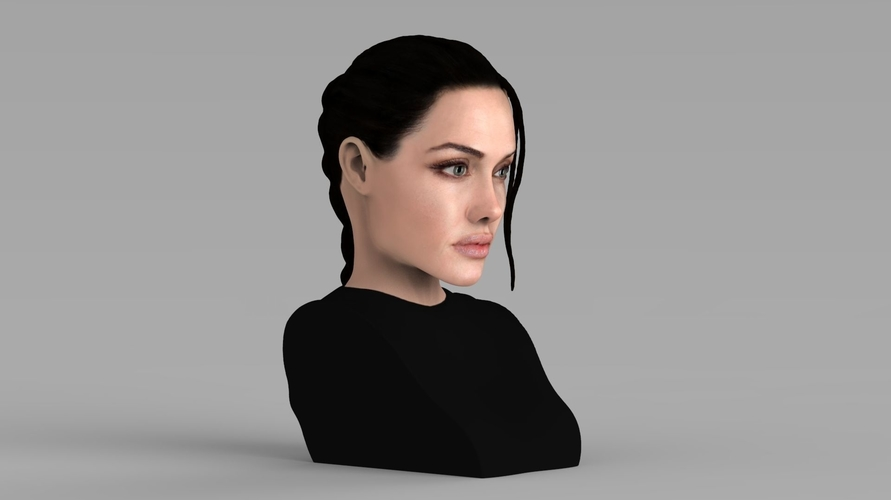 Lara Croft Angelina Jolie bust ready for full color 3D printing 3D Print 231494