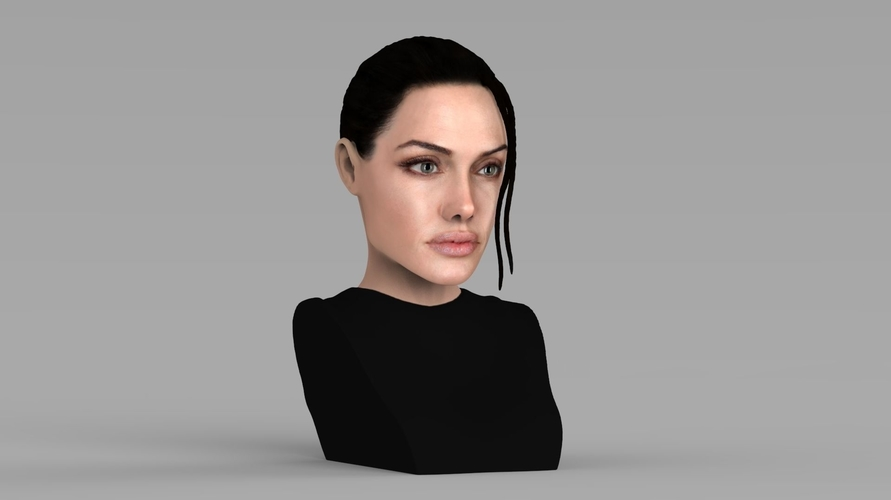 Lara Croft Angelina Jolie bust ready for full color 3D printing 3D Print 231495