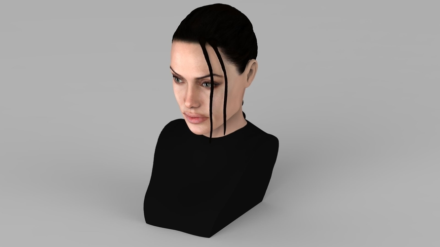 Lara Croft Angelina Jolie bust ready for full color 3D printing 3D Print 231496