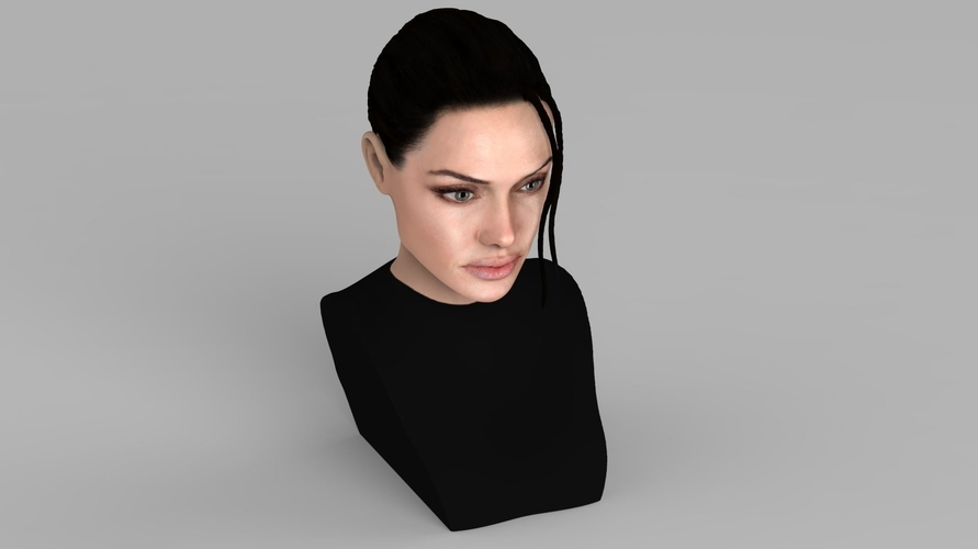 Lara Croft Angelina Jolie bust ready for full color 3D printing 3D Print 231497