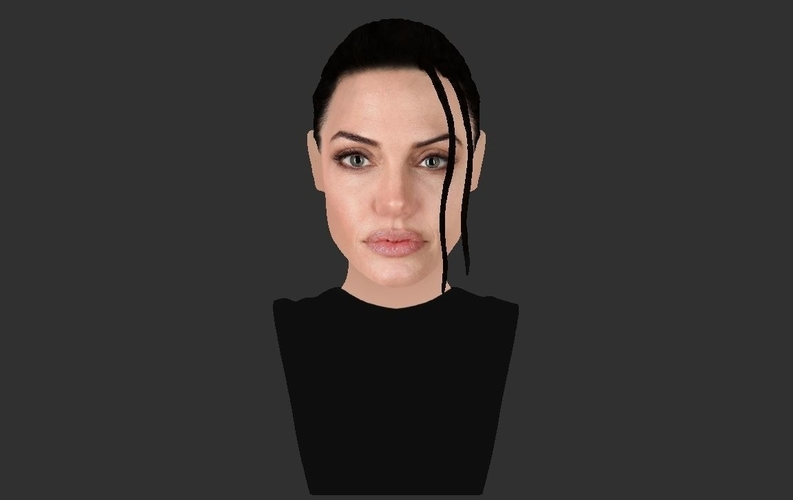 Lara Croft Angelina Jolie bust ready for full color 3D printing 3D Print 231499