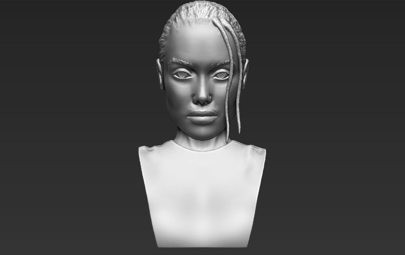 Lara Croft Angelina Jolie bust ready for full color 3D printing 3D Print 231501