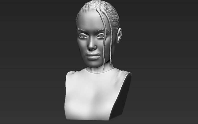 Lara Croft Angelina Jolie bust ready for full color 3D printing 3D Print 231502