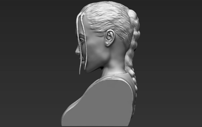 Lara Croft Angelina Jolie bust ready for full color 3D printing 3D Print 231503