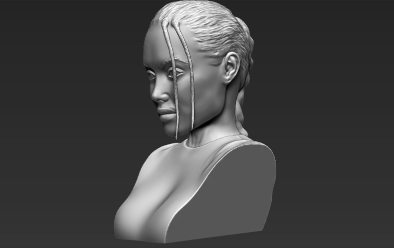 Lara Croft Angelina Jolie bust ready for full color 3D printing 3D Print 231504