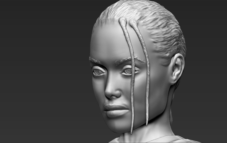 Lara Croft Angelina Jolie bust ready for full color 3D printing 3D Print 231505
