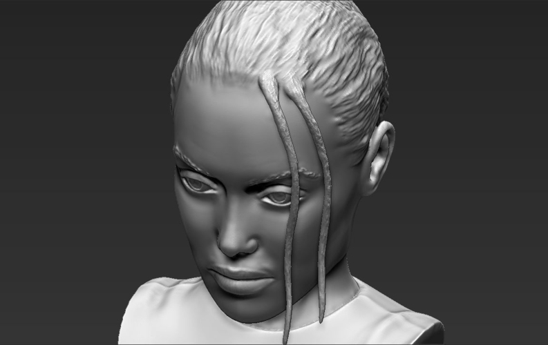 Lara Croft Angelina Jolie bust ready for full color 3D printing 3D Print 231506