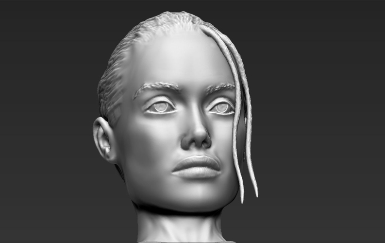 Lara Croft Angelina Jolie bust ready for full color 3D printing 3D Print 231508