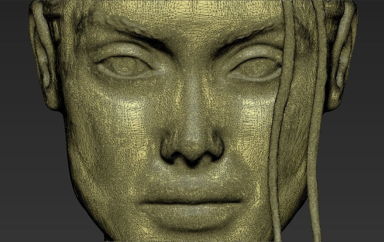 Lara Croft Angelina Jolie bust ready for full color 3D printing 3D Print 231509