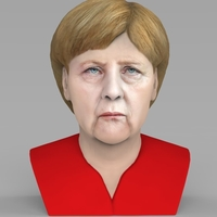 Small Angela Merkel bust ready for full color 3D printing 3D Printing 231543