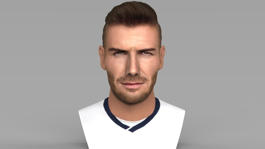 David Beckham bust ready for full color 3D printing 3D Print 231619