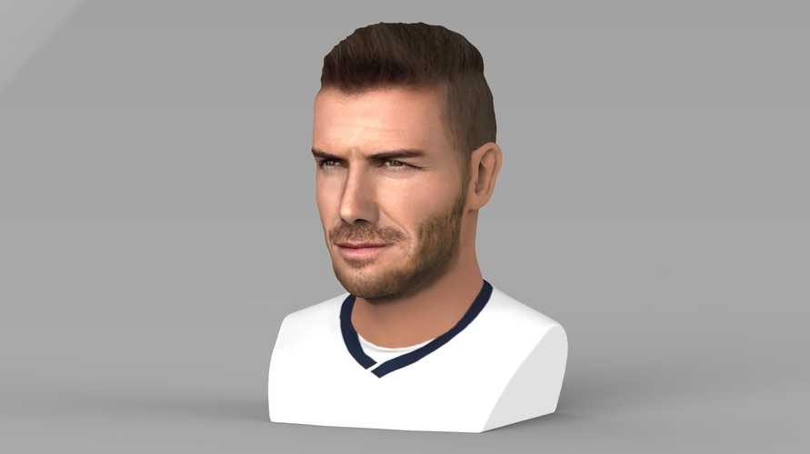 David Beckham bust ready for full color 3D printing 3D Print 231620