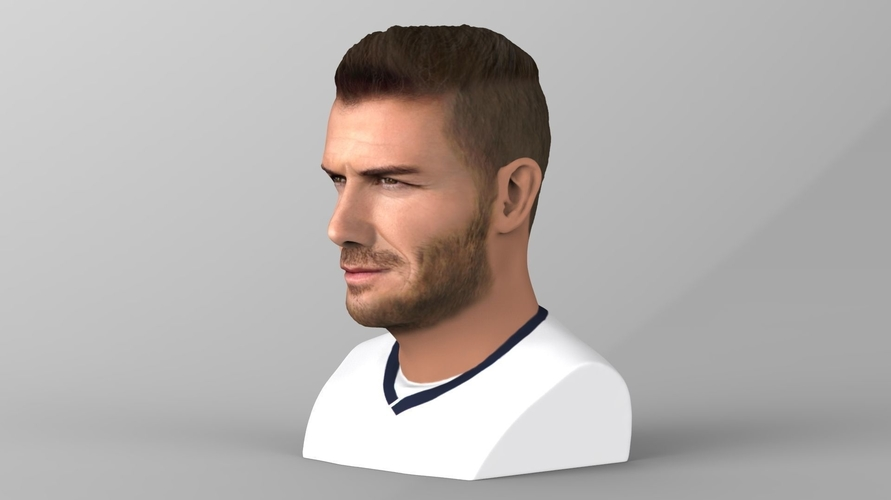 David Beckham bust ready for full color 3D printing 3D Print 231621