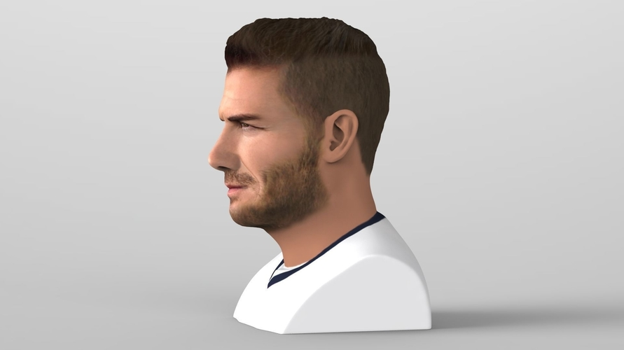 David Beckham bust ready for full color 3D printing 3D Print 231622