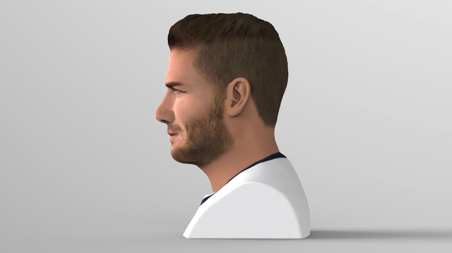 David Beckham bust ready for full color 3D printing 3D Print 231623