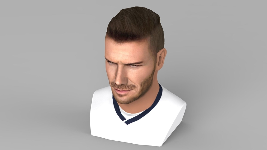 David Beckham bust ready for full color 3D printing 3D Print 231624