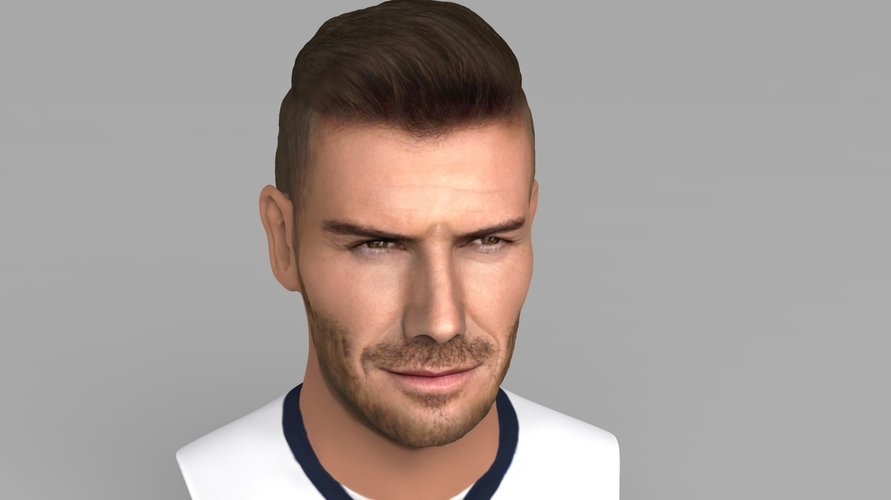 David Beckham bust ready for full color 3D printing 3D Print 231625