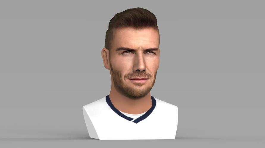 David Beckham bust ready for full color 3D printing 3D Print 231626