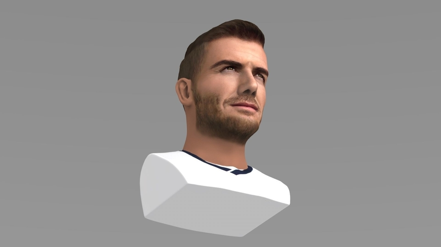 David Beckham bust ready for full color 3D printing 3D Print 231628